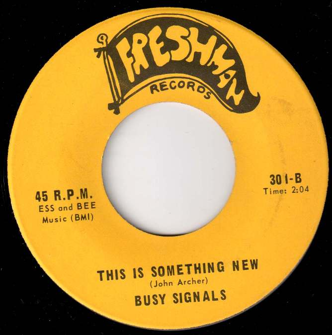 John Archer wrote both sides of the Busy Signals' debut single.