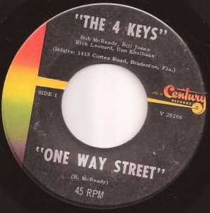 Wanted:  The 4 Keys' 1966 single on Century Records