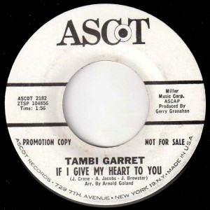 Tambi makes it on to a nationally-distributed label.