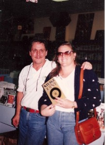 John and Shelley Doyle at the Savage Lost book release party, February 1992, at Y&T Records.  Photo by John Mascaro