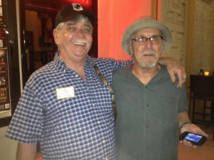 John Doyle, right, with former Evil bass player Mike Hughes, September 10, 2012, at the While We Still Can Reunion