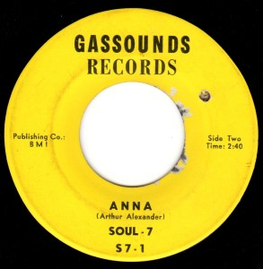 """Anna"" was recorded by the Soul-7 back in 1966.  Was it recycled for a mysterious 1969 release?"