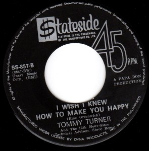 The Tommy Turner record was even released in the Philippines... but it wasn't a hit.