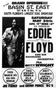 Betty Wright and other talented locals, opening for Eddie Floyd in Fort Lauderdale.  This ad originally appeared in the Miami Times.  Click on the image to view it full size.