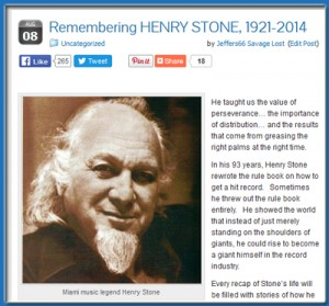 Remembering Henry Stone