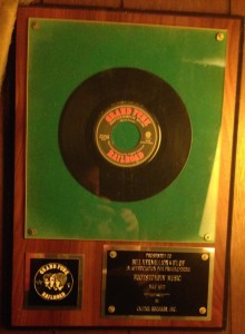 Appreciation from Capitol Records and Grand Funk Railroad:  just one of many awards for helping to break future hit records