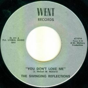 Some pressings showed the group's name as the Reflections, while others showed them as the Swinging Reflections.