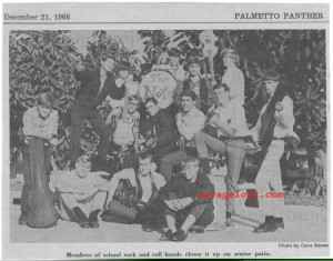 The Novas, and other Palmetto High School bands, from the Palmetto Panther, December 1966