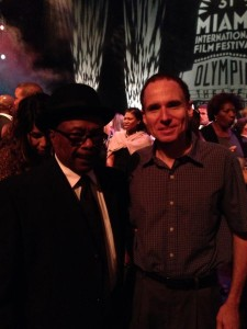 This writer with Willie Clarke, at the Miami premier of the Deep City film