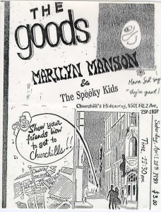 The official debut of Marilyn Manson & the Spooky Kids... with the Goods