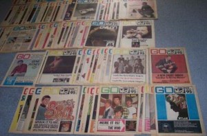 WLOF Go Magazines, each containing WLOF's weekly music survey
